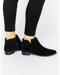 Miss Kg Black Metal Trim Flat Boots