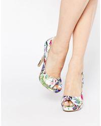AX Paris - Multicolor X Paris Evie Print Peeptoe Court Shoes - Lyst