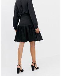 Closet - Jupe portefeuille à liens Closet en coloris Black