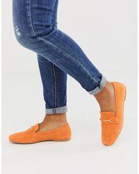 ASOS Orange – Mocha – farbige Wildleder-Loafer mit eckigen Zehenpartien