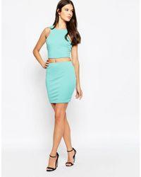 AX Paris - Blue Cut Out Bodycon Dress - Lyst