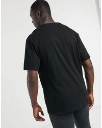 Big & Tall - T-shirt oversize nera di Topman in Black da Uomo