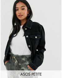 Черная Выбеленная Джинсовая Куртка ASOS, цвет: Black