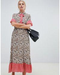 Vila Multicolor Printed Retro Midi Dress