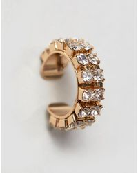 ASOS - Metallic Crystal Jewel Ear Cuff - Lyst