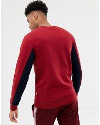 Felpa rossa con logo sul petto - In esclusiva per ASOS di Nicce London in Red da Uomo
