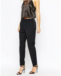 French Connection Black Mimi Pinstripe Trouser
