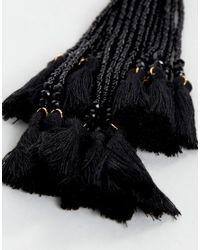 New Look - Blue Multi Bead Tassel Earrings - Lyst