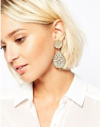 ALDO Metallic Ldo Gold Brerrama Earrings
