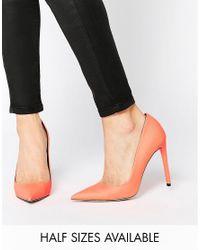 ASOS Orange Platinum Pointed High Heels