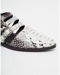 ASOS - Black Magic Trick Flat Shoes - Lyst