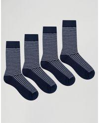 Jack & Jones   Blue Socks 4 Pack for Men   Lyst