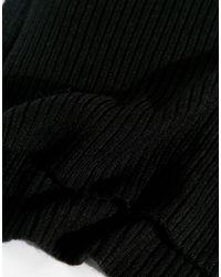 Monki - Black Knitted Neck Warmer - Lyst