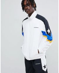 c907c9f22a52 Converse Colour Block Track Jacket In White 10006473-a01 in White ...