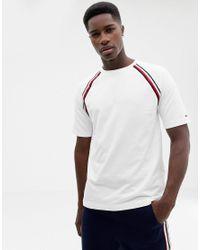 f4195b1c1ae38f Lyst - Tommy Hilfiger Raglan Striped T-shirt in White for Men