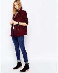 ASOS - Purple Jacket With Oversized Collar - Lyst
