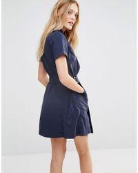 G-Star RAW Blue Utility Wrap Dress