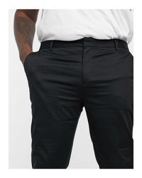 River Island Black Big & Tall Chino for men