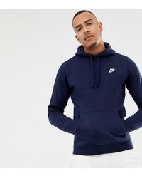34c57e578b72 Nike Pullover Hoodie With Swoosh Logo In Navy 804346-451 in Blue for ...
