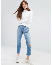 ASOS - White The Polo Neck With Long Sleeves - Lyst