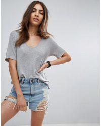 ASOS | Gray Short Sleeve Forever T-shirt | Lyst