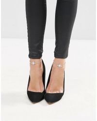 ASOS - Metallic Pack Of 2 Jewel Anklets - Lyst