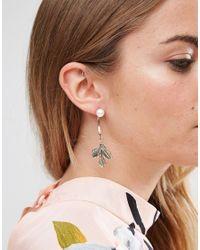 ASOS - Multicolor Vintage Leaf Swing Earrings - Lyst