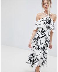 Coast White Elouise Halterneck Printed Dress