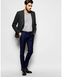 Noak - Gray Prince Of Wales Check Blazer Jacket In Super Skinny Fit for Men - Lyst