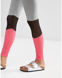 ASOS - Multicolor Mesh Insert Colour Block Leggings - Lyst