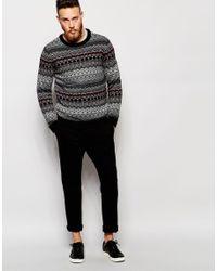 Weekday Multicolor Crew Jumper Life Jaquard Knit for men