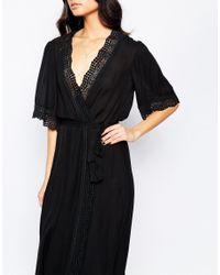 Stone Cold Fox - The Leo Maxi Dress In Black Silk - Lyst