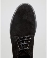 Dune   Black Blow Out Suede Derby Shoes for Men   Lyst
