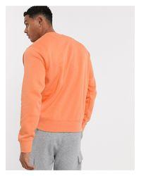 Оранжевый Свитшот С Круглым Вырезом Club Nike для него, цвет: Orange