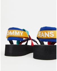 Tommy Hilfiger Blue Sandal With Bright Straps for men