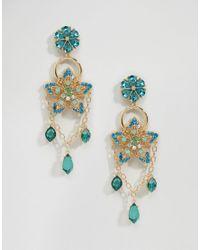 ASOS | Metallic Statement Garden Jewel Drop Earrings | Lyst