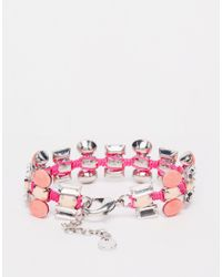 Nali - Metallic Statement Gem Bracelet - Lyst
