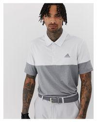 Ultimate 365 - Polo grigio mélange colour block di Adidas Originals in Gray da Uomo