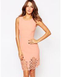 Little Black Dress Pink Eva Dress With Cutwork Hem