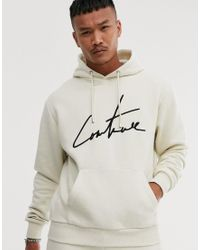 The Couture Club Essential Hoodie In Off White for men