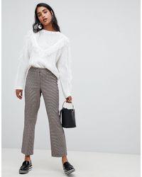 Vila Multicolor Check Tailored Trouser