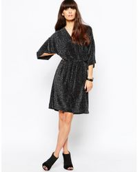 Just Female - Black Lux Kimono Dress - Lyst