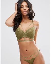 ASOS | Green Fuller Bust Becca Lace Moulded Underwire Bra | Lyst