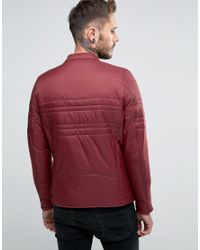 DIESEL Red W-neverzip Quilted Jacket for men