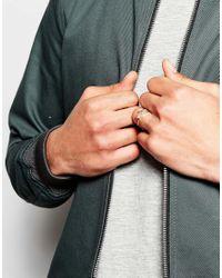 ASOS | Metallic Hexagon Ring Pack In Mixed Metal for Men | Lyst
