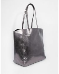 ASOS - Metallic Shopper Bag - Lyst