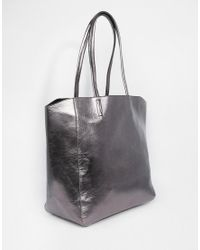 ASOS | Metallic Shopper Bag | Lyst