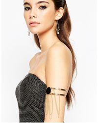 ASOS   Metallic Night Multi Chain Arm Cuff With Stone   Lyst