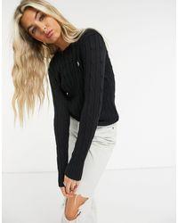 Pull en coton torsadé Polo Ralph Lauren en coloris Black