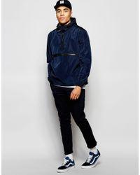 ASOS - Blue Overhead Hooded Jacket In Navy for Men - Lyst